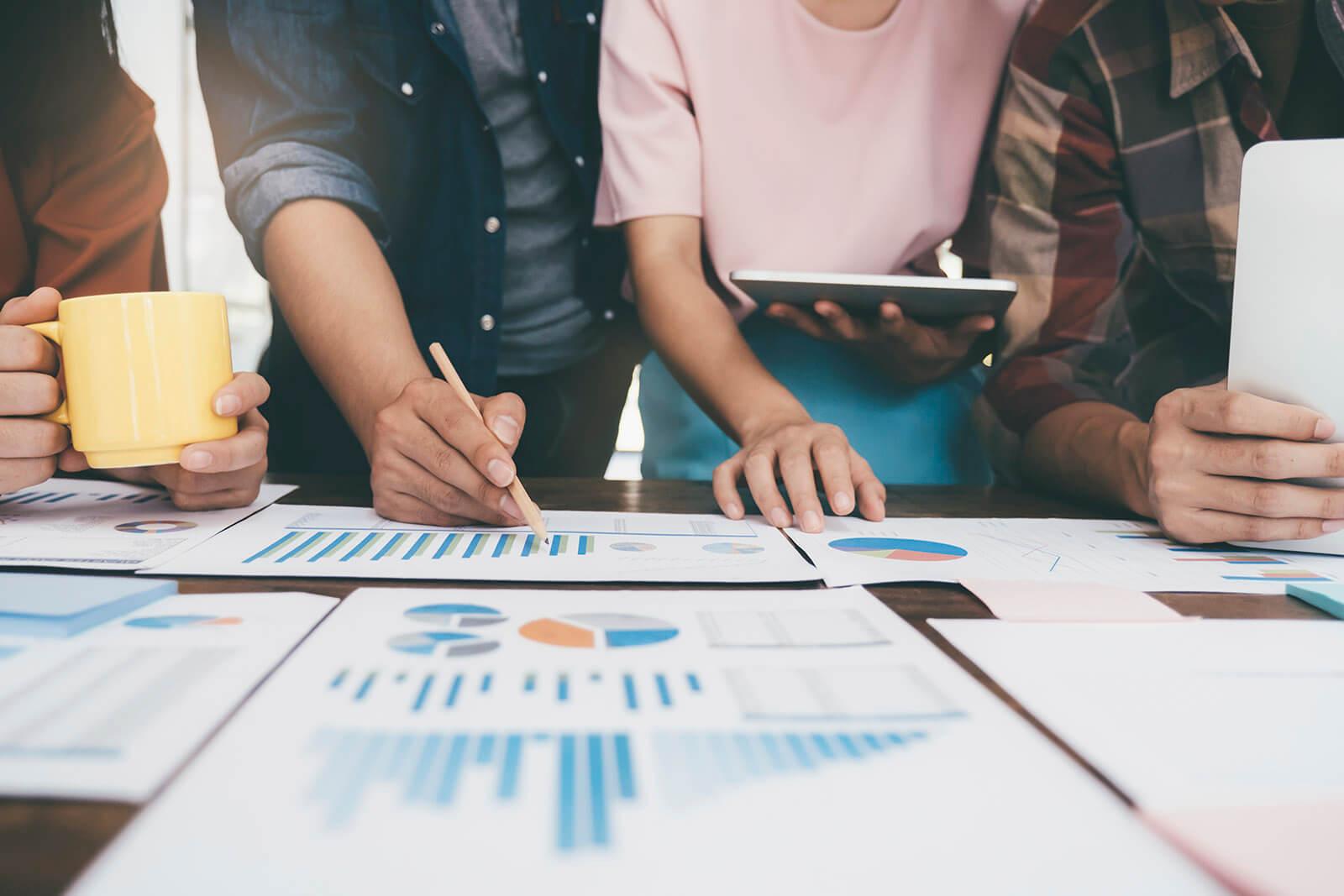 creative marketing temp background